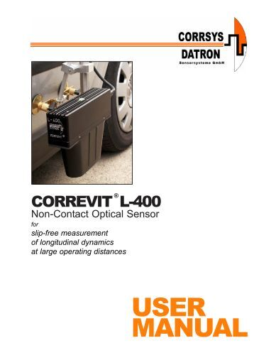 USER MANUAL - Corrsys-Datron