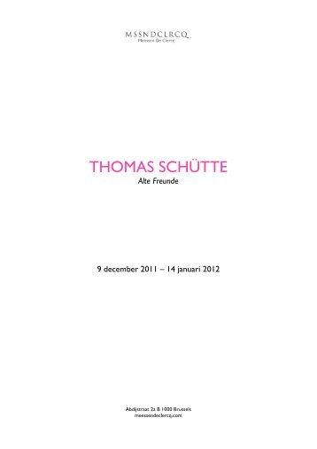 THOMAS SCHÜTTE - Meessen De Clercq