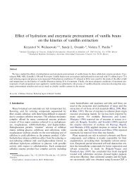 Effect of hydration and enzymatic pretreatment of vanilla beans on ...