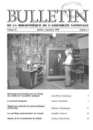 Vol. 19, no 3, septembre - Bibliothèque