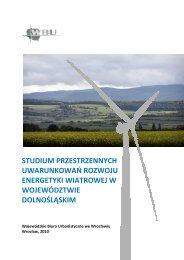 Uwarunkowania przyrodnicze dla rozwoju energetyki ... - Bio Study