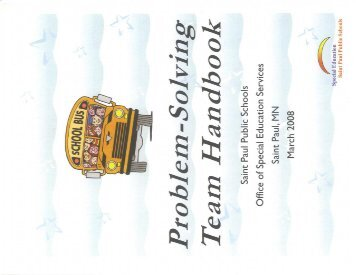 Problem Solving Team Handbook (PDF) - St. Paul Public Schools