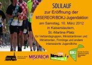zur Eröffnung der MISEREOR/BDKJ-Jugendaktion - BDKJ Speyer