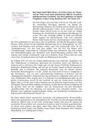 Ilan Pappe/Jamil Hilal (Hrsg.), Zu beiden Seiten der ... - Ludwig Watzal