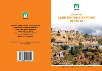 Land sector financing booklet final - Hakijamii