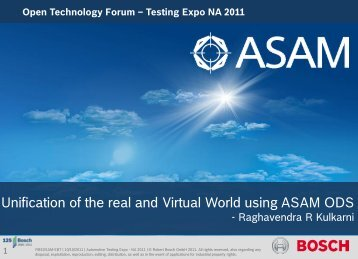Unification of real and virtual worlds in the automotive ... - ASAM
