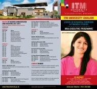 Download Brochure - ITM University