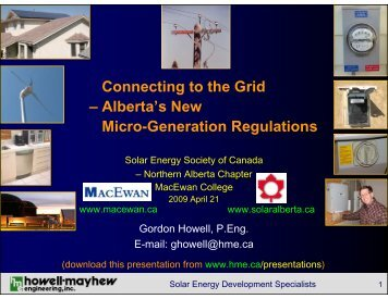 Connecting to the Grid - Howell-Mayhew Engineering