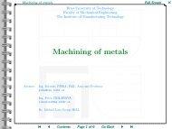 Machining of metals