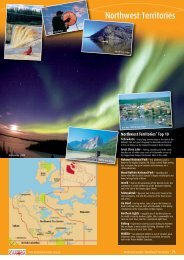 Download the entire Northwest Territories brochure here