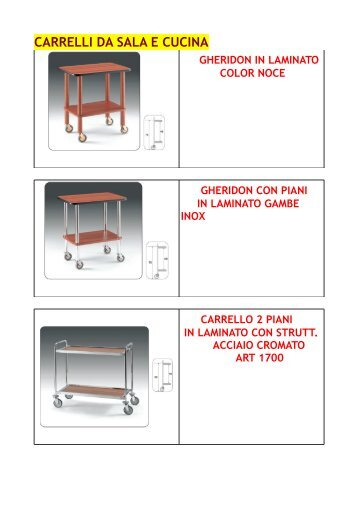 Catalogo carrelli