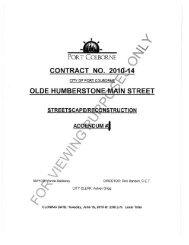 form of tender - City of Port Colborne
