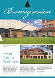 A word from the Headmaster - Bromsgrove School