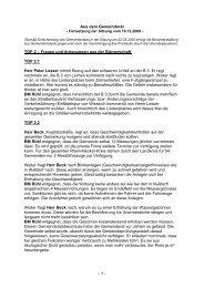 Protokoll vom 16.Dezember.2009 2. Teil - Nußloch
