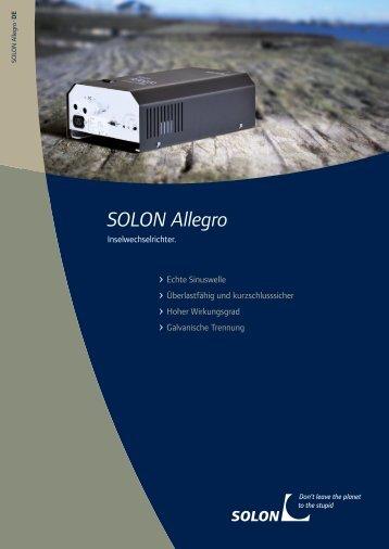 SOLON Allegro Inselwechselrichter