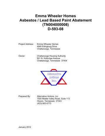 Emma Wheeler Homes Asbestos / Lead Based Paint Abatement ...