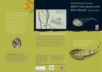 Wolf's Hole Quarry and Mine Woods - Edinburgh Geological Society