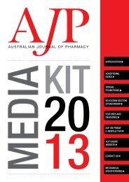 AJP Media Kit 2013 - Australian Pharmaceutical Publishing Company