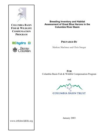 Breeding Inventory and Habitat Assessment of the Great Blue ...