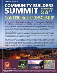 CONFERENCE SPONSORSHIP - Sonoran Institute