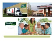 January 2012 - SPTN | Spartan Stores News - Investors Relations ...