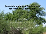 Dendrochronological Applications for Riparian ... - Sonoran Institute