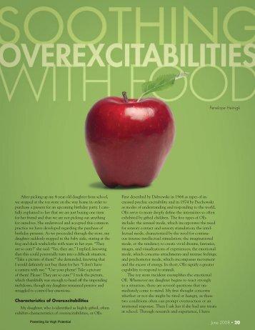 Soothing Overexcitabilities with food - NAGC