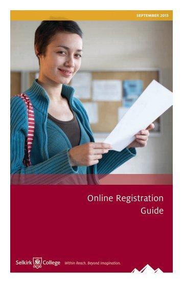 Online Registration Guide - Selkirk College