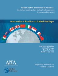 International Pavilion at Global Pet Expo - the American Pet ...