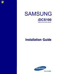 Samsung IDCS100 Installation Manual - Samsung Telephone ...