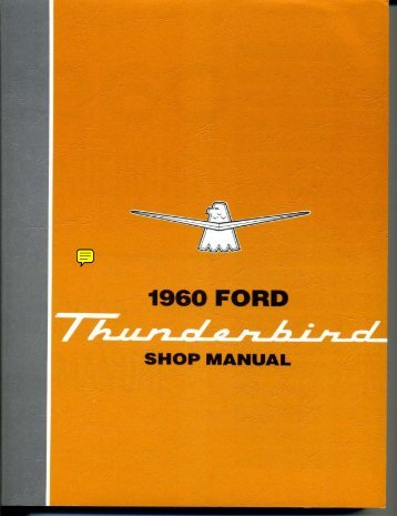 DEMO - 1960 Ford Thunderbird Shop Manual - ForelPublishing.com