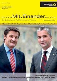 MitEinander_Frühjahr2012 (pdf) - Raiffeisenbank Ybbstal