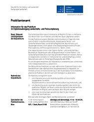 Praktikantenamt Praktikantenamt - Fakultät für Architektur und ...