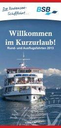 Ausflugsfahrten der BSB - Bodensee-Schiffsbetriebe GmbH