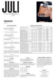 mediadaten - Das Kulturmagazin für den Aargau