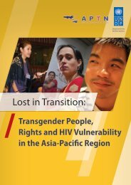 Lost in Transition: Transgender People, Rights and HIV Vulnerability ...