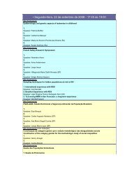 • Segunda-feira, 22 de setembro de 2008 - 17:45 às 19:00 - EPI 2008