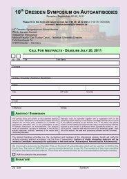 6TH DRESDEN SYMPOSIUM ON AUTOANTIBODIES - (GFID) eV
