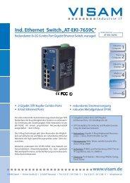 "1 Ind. Ethernet Switch ""AT-EKI-7659C"" - VISAM GmbH"