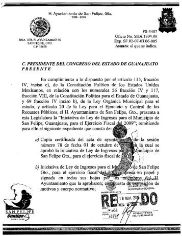 San Felipe - Congreso del Estado de Guanajuato