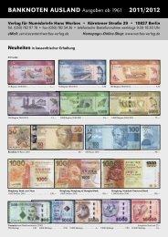 BANKNOTEN AUSLAND Ausgaben ab 1961 2011/2012 - Verlag für ...