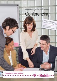 Conferencing. - T-Mobile Business