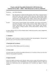 Le procès-verbal (PDF, 209 kb) - Sec Suisse