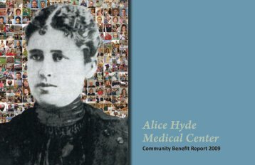 AHMC Community Benefit Report 2009 - Alice Hyde Medical Center