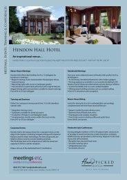 Download our Meetings ECT PDF here. - Hand Picked Hotels