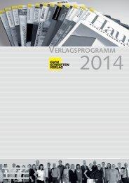 Verlagsprogramm 2014 (High-PDF) - Fachschriften-Verlag