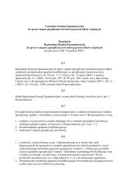 Regulamin Regionalnej Komisji Egzaminacyjnej ds. I-go stopnia ...