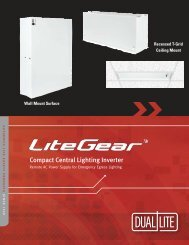 Compact Central Lighting Inverter - Dual-Lite