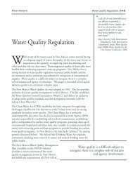 Water Quality Regulation - Utton Transboundary Resources Center ...