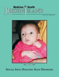 HODE SLAND - Rhode Island Medical Society